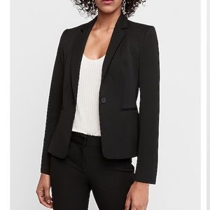 Ruched Sleeve Two Button Blazer